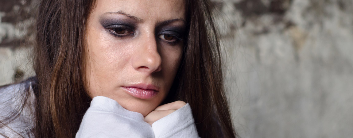 a woman struggling with addiction